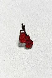 Urban Outfitters Uo Boxing Gloves Pin Red