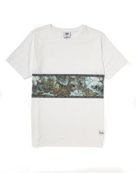 Hype X The Idle Man Electric Crystal Chest Panel T Shirt Green