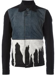 Rick Owens Drkshdw Bleach Effect Denim Jacket Black