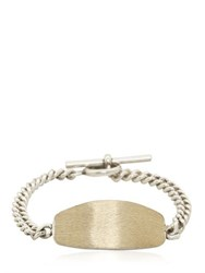 Maison Martin Margiela Silver Colored Brass Id Bracelet
