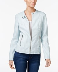 Styleandco. Style Co. Faux Leather Moto Jacket Only At Macy's Cobalt Blue