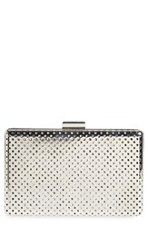 Sole Society 'Raquelle' Perforated Metal Box Clutch