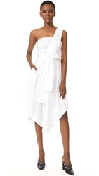 Kendall Kylie Sleeve Wrap Dress Bright White