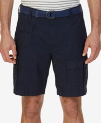 Nautica Men's Big And Tall Modern Fit Cargo Shorts Navy