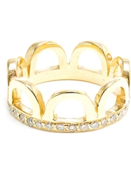Jagga 18Kt Gold And Diamond Crown Ring Metallic