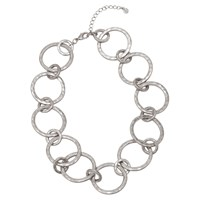 Boden Delphine Statement Circle Necklace Silver