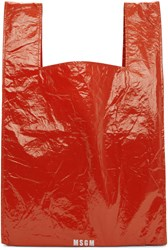 Msgm Red Shopping Tote