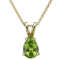 London Road 9Ct Yellow Gold And Peridot Pendant