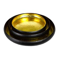 Pols Potten Lotus Leaf Decorative Tray Set Of 3 Gold