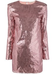 Amen Sequinned Mini Dress Pink