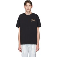 J.W.Anderson Jw Anderson Black Embroidered Logo T Shirt