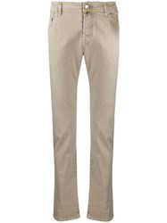 Jacob Cohen Straight Leg Chinos Neutrals