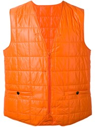 Stutterheim Padded Vest Men Nylon Polyester L Yellow Orange