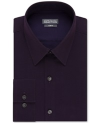 Kenneth Cole Reaction Extra Slim Fit Solid Dress Shirt Wine