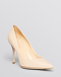Sergio Rossi Pointed Toe Pumps Godiva High Heel New Nude