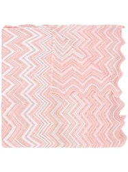 Missoni Zig Zag Pattern Scarf Pink Purple