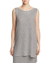 Eileen Fisher Boat Neck Sleeveless Knit Tunic 100 Bloomingdale's Exclusive Silver