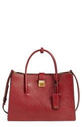 Miu Miu 'Medium Madras' Goatskin Leather Satchel