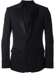 Dolce And Gabbana Jacquard Dinner Jacket Black