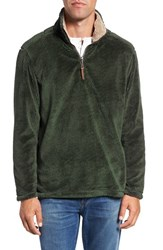 True Grit Men's Pebble Pile Quarter Zip Pullover Vintage Olive