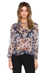Twelfth St. By Cynthia Vincent Gypsy Blouse Blue