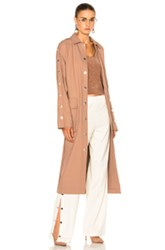 Tibi Trench Coat In Neutrals Pink Neutrals Pink