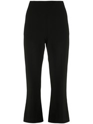 Christian Siriano Cropped Flare Trousers Black