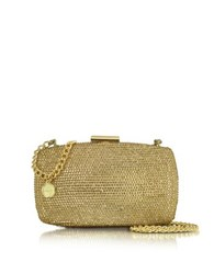 Roccobarocco Hardcase Crystals Clutch W Chain Gold