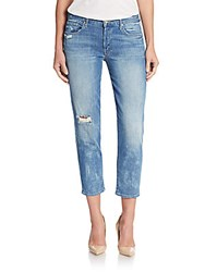 Mother The Loosey Destroyed Boyfriend Jeans Blue