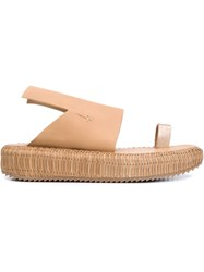 Officine Creative Thick Strap Sandals Nude And Neutrals