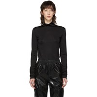 Maison Martin Margiela Mm6 Black Jersey Turtleneck