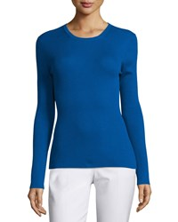 Michael Kors Collection Long Sleeve Cashmere Top Cobalt Women's Size L