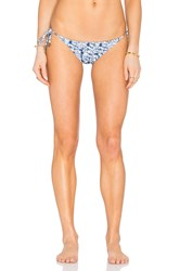 Sofia By Vix Reversible Side Tie Bikini Bottom Blue