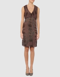 Fairly Short Dresses Dark Brown