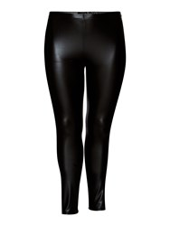 Persona Plus Size Odeon Faux Leather Trouser Black