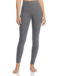 Yummie Tummie By Heather Thomson Rachel Compact Cotton Leggings Heather Charcoal