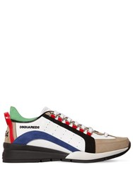 Dsquared 551 Leather Low Top Sneakers White Blue Blac