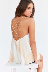 Silence And Noise Prism Babydoll Cami White Colorblock