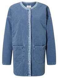 Numph Geira Quilted Denim Jacket Cashmere Blue