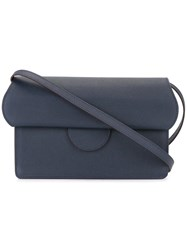 Roksanda Ilincic Fold Over Cross Body Bag Blue