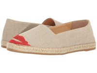Charlotte Olympia Kiss Me Espadrilles Grey Canvas
