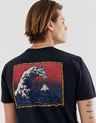 Quiksilver The Original Mountain And Wave T Shirt In Black