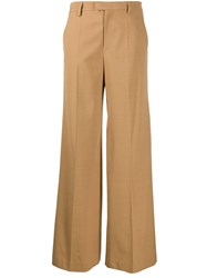 Red Valentino Wide Leg Pleated Trousers Neutrals