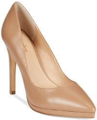 Charles By Charles David Plateau Platform Pumps Women's Shoes Nude