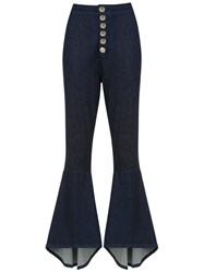Olympiah Lima Flared Trousers Blue