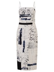 John Lewis Kin By Limited Edition Hand Drawn Strapless Dress Black White