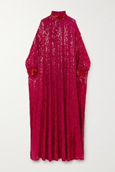 Ashish Ma Sheela Sequined Georgette Gown Pink