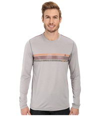 Prana Calder L S Light Grey Men's Long Sleeve Pullover Gray