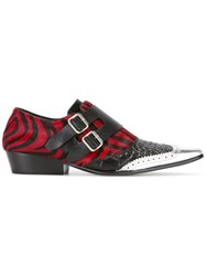 Haider Ackermann Multi Wear Buckle Zebra Shoes Black