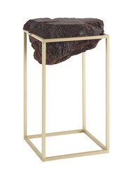 Jcp Tall Antivol Side Table Gold Brown